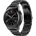 Samsung S3 strap in stainless steel 22mm-Black
