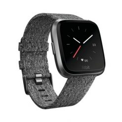 Fitbit - Versa Smart Watch - Charcoal Woven