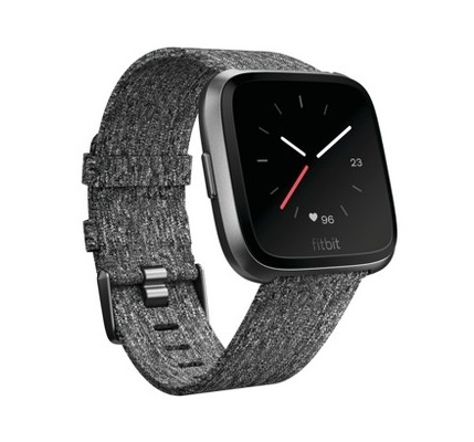 Fitbit - Versa Smartwatch - Charcoal Woven