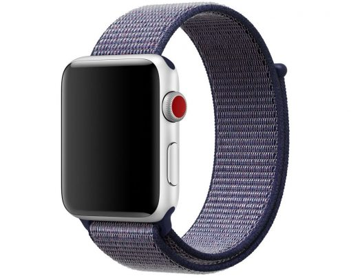 Nylon rem til Apple Watch 42/44 mm - Lilla