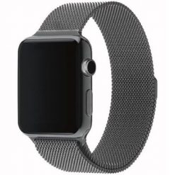 Milanese - Rustfri Stål Rem til Apple watch - Grå 38/40