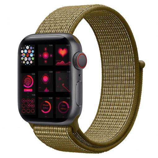 Vizore - Nylon rem til Apple Watch 42/44 mm - Olive Flank