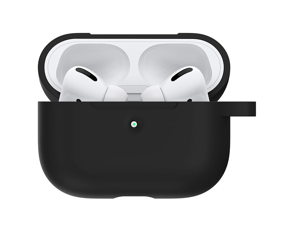 Silicone cover til Apple AirPods Pro - Sort med krog
